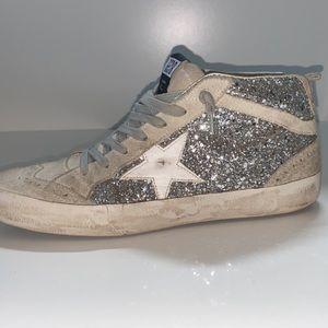 GOLDEN GOOSE MidStar Glitters & White Star